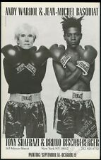 1985 Andy Warhol Jean-Michel Basquiat boxing photo BIG vintage print ad
