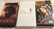 Lot Of 3 Religious VHS Tapes The Passion Of The Christ Mary Mother Of God Life