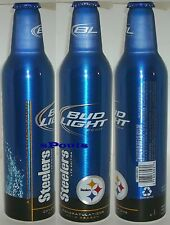 PITTSBURGH STEELERS 2010 SUPER BOWL FOOTBALL BUD LIGHT ALUMINUM BEER BOTTLE-CAN
