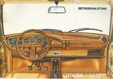 Citroen GS manual de instrucciones de 1978 break Limousine manual de instrucciones ba