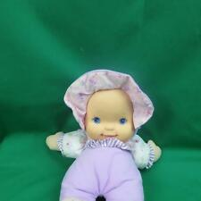 PURPLE PINK BLUE EYES BABY DOLL GOLDBERGER BABIES FIRST GIGGLES LAUGHING PLUSH