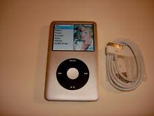 APPLE  IPOD  CLASSIC  7TH GEN.  CUSTOM  SILVER  120GB...NEW  HARD DRIVE...
