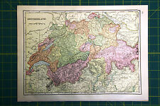 Netherlands Belgium Switzerland -  Rare Original 1911 Antique World Atlas Maps