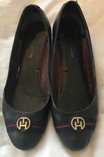 Ladies Tommy Hilfiger Black Flat Pumps Work Shoes. Size 6. Eur 39. RRP £85