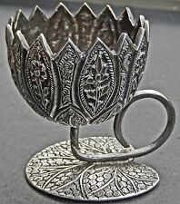 Exquisite Antique Indo Persian Islamic Solid Silver Miniature Bowl Kashmir c1890
