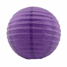 "5pcs Pack of 8"" Paper Lantern Round Chinese Lamp Decoration Wedding Party Purple"
