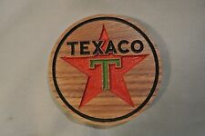 Texaco Gas Magnet Walnut Wood Refrigerator Magnet American Made/ Homemade
