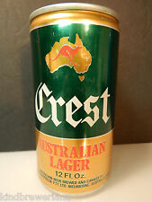 Crest Lager Beer Can Courage Australia Brewery Empty