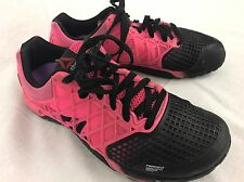 Reebok Crossfit CF-74 Women's Size 10 Pink Black Anti Friction Tech