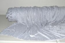 """Heather Gray Jersey Knit w/Silver Metallic 3D Dots 100% Poly 60"""" Wide Fabric BTY"""