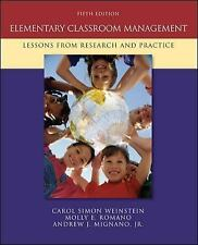 ELEMENTARY CLASSROOM MANAGEMENT: Lessons from Research & Practice*Weinstein*5th