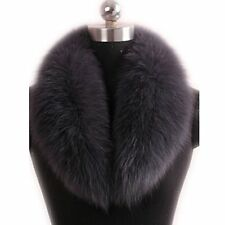 GEGEFUR Real Genuine Fox Fur Winter Collar Scarves Scarf Wrap Neck Warmer lining