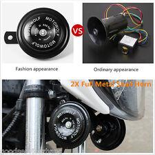 2Pcs 12V 435HZ 110 dB Motorcycle Car Auto Truck Loud Snail Horn Waterproof Metal