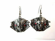 UNIQUE TRIBAL FACE EARRINGS GOTH VINTAGE RETRO  TRENDY BRAND NEW (A5)