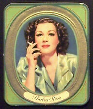 Shirley Ross 1937 Garbaty Passion Film Favorites Embossed Cigarette Card #40