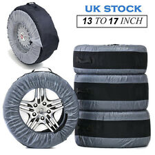 "4 PCS Tyre Wheel Cover Storage Bag Spare Tyre Cover 13"" To 17"" Winter Snowing UK"