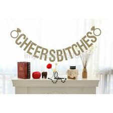 Cheers Bitches Glitter Bunting Banner Wedding Hen Party Photo Props Decor