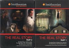 The Real Story Part 1 & 2 (DVDS) James Bond, Indiana Jones, Amityville Horror...