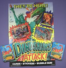 When Dinosaurs Attack  Gum Card Promotional Poster! & Unopened Packs