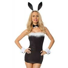 SEXY BUNNY GIRL / WAITRESS COSTUME FANCY DRESS HEN PARTY ONE SIZE  8-12 (8833)