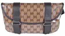 NEW Gucci 374617 Crystal Line Canvas GG Guccissima Fanny Pack Waist Sling Bag