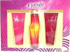 MAMBO WOMEN 3 PIECES SET WITH 3.4 OZ EDP SPRAY + BODY LOTION + SHOWER GEL