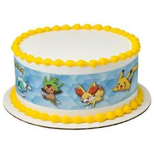 Pokemon Licensed Birthday ~ Edible Cake Topper ~ 1/4 Sheet Strips ~ D7559