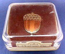 BUY1&GET1@50%~MIB Hallmark PIN Thanksgiving ACORN Enamel Cloisonne Vtg BROOCH