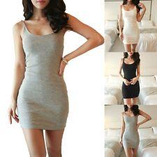 Women Casual Summer Short Mini Dress Evening Bodycon Sleeveless White XL