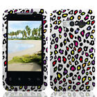 For MetroPCS Huawei Activa 4G M920 HARD Case Phone Cover White Colorful Leopard