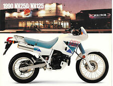 '90 Honda  Sales Brochure NX125 NX250 Sales Brochure