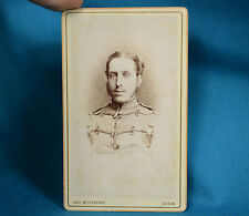 1880 CDV Foto German Deutsches Heer 7th Husar Hussar 1st Rhenish VIII Army Trier