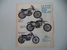 advertising Pubblicità 1970 MOTO ITALJET 100 CROSS/175 CROSS/CZ 360 MC