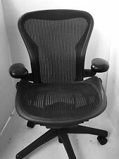 Excellent Herman Miller Size B Aeron Chairs with Rear Tilt Lock