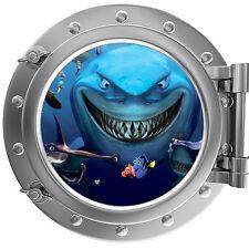 Alla ricerca di Nemo-SQUALI oblò Wall Sticker