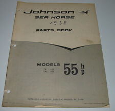 Parts Book Ersatzteilkatalog Johnson Sea Horse Models 55 HP TR - 10 S / TRL - 10
