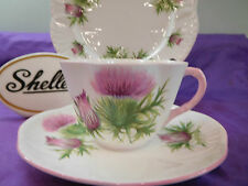 SHELLEY  PURPLE  THISTLE   *   DAINTY  SHAPE  *  CUP,  SAUCER AND PLATE    13820