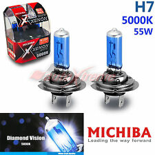 MICHIBA H7 12V 55W 5000K Xenon SUPER WHITE Vision Headlight Bulbs for High Beam