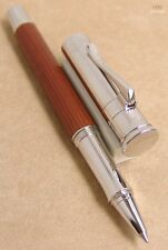 GRAF VON FABER-CASTELL CLASSIC PERNAMBUCO WOOD WITH PLATINUM PLATED ROLLER PEN !