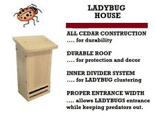 Ark Workshop LADYBUG HOUSE holds hundreds & helps insect aphid control garden