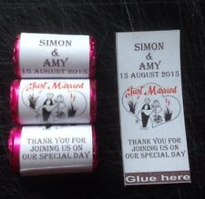 100 Personalised Love Heart Sweet Wrappers, Wedding, Favours,gift, Celebration