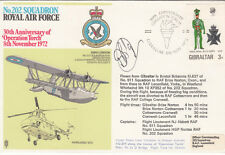 Reflown from Gibraltar in Hunter RAF 202 Sqn Pilot Signed Flt Lt D Bridge