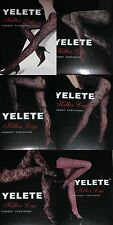 3pcs Tights Pantyhose Blacks Fishnet Lace Mix design Yelete One Size fit most
