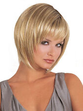 Ladies Party blonde Straight Wigs Short Hair Wigs Women's Fashion Wig+ free cap