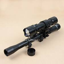 New Tasco 4x20 Air Rifle Telescopic Scope Sights+300LM Flashlight Torch For Hunt