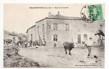 FRANCHEVILLE Meurthe et moselle CPA 54 Place de la fontaine boulangerie vache