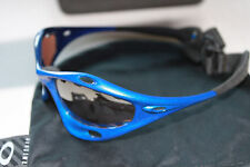 OAKLEY CLASSIC WATER JACKET BLUE w/ VR28 BLACK IRIDIUM LENS SUNGLASSES