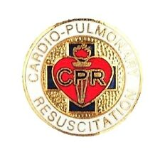 Cardio-Pulmonary Resuscitation Lapel Pin Gold Plate Medical Emblem CPR 1080 New