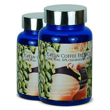 2 BOTTLES CERTIFIED PURE GREEN COFFEE EXTRACT - LOSE WEIGHT & BURN FAT