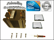DELL Precision T7400 Matched Pair Quad Core X5472 3GHz XEON CPU kit +heat sink